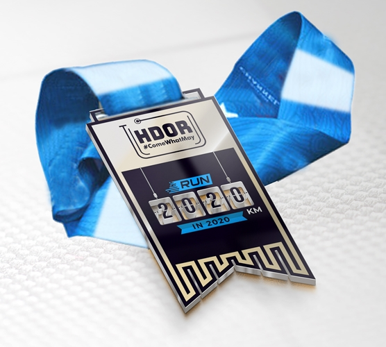 2020km Medal With Ribbon